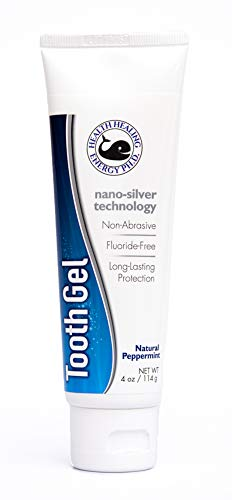Toothpaste Gel Nano Silver Technology - Fluoride Free, SLS Free, Non-Abrasive, No BPA, Non-staining, Family Friendly, Promotes Fresh Breath and Mouth, Natural, Peppermint, 4oz