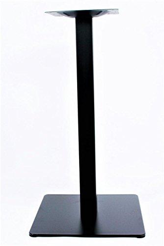 """Base de mesa, 75 cm, base de la mesa, marco de acero inoxidable, negro, pie cuadrado,""""Hannover"""""""