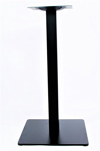 Base de mesa, 75 cm, base de la mesa, marco de acero inoxidable, negro, pie cuadrado,'Hannover'