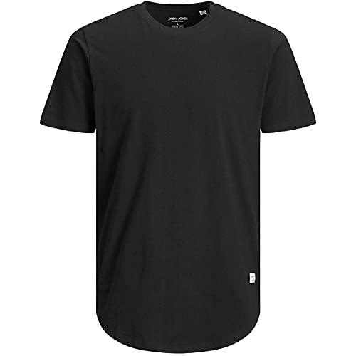 JACK & JONES JJENOA Tee SS Crew Neck PS T-Shirt, Nero, 4XL Uomo