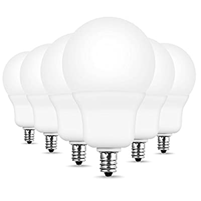 60W Equivalent LED Candelabra Bulb, JandCase 8W Ceiling Fan Light Bulbs, 800lm, Natural Daylight White 4000K, E12 Candelabra Base, A19 Bright Light Bulbs for Bathroom Vanity, Not Dimmable, 6 Pack