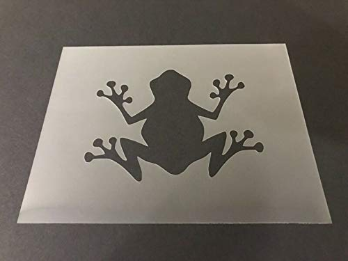 Stencil Frog #2 Frog Pond Toads Dragonfly Airbrushing!, Plastic Reusable Flexible Durable