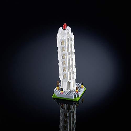 Brixies 410045 - leisteen toren van Pisa, 3D-puzzel, Italy Edition, 494 delen, moeilijkheidsniveau 3, zwaar, meerkleurig