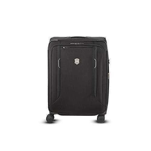 Victorinox WT 6.0 Softside Spinner Luggage, Black, Checked-Medium (24')