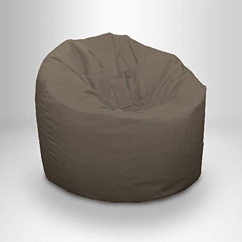 Ready Steady Bed Puff de Jardín Exterior | Puff para Terraza Exterior e Interiores | Diseño Ergonómico para SoporteCorporal | Resistente al Agua - Perdurable y Cómodo (Gris)