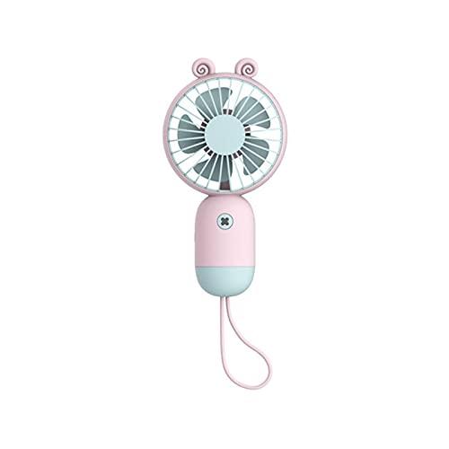 CHENXTT Ventilador Portátil En Verano Carga Usb Diseño Silencioso Ventilador Eléctrico Para Niños En Un Pequeño Dormitorio De Estudiantes Rosa 3.5*6.9*1.3in