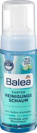 Zarter Reinigungsschaum Mit 10% Aloe Vera und Hydro-Komplex | Für eine Gründliche und schonende Reinigung | Für Normale und Mischhaut | 150 ml
