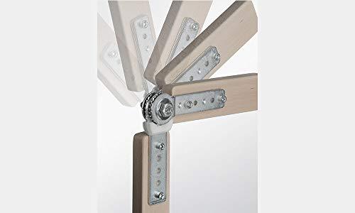 Gedotec Rasthochstell-Beschlag Polster-Gelenk C25 Rastomat 180° | Arm-Lehnenversteller 11-fach verstellbar | Verstellbeschlag Stahl verzinkt | 2 Stück - Gelenk-Scharnier Möbel - Liegen & Betten