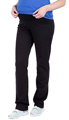 Mija – Pantalons de maternité décontractés tr?s confortable Pantalons Pantalon de sport 1010 (EU 46, Noir)