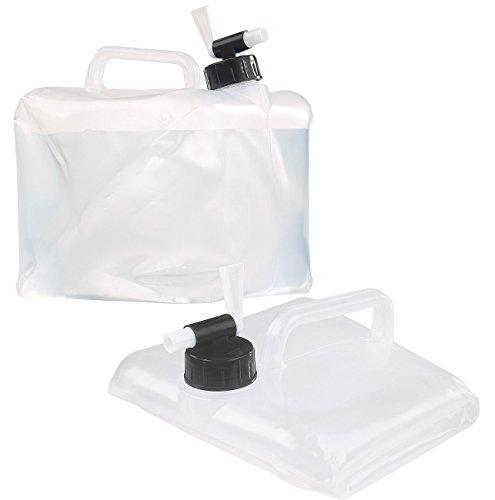 Semptec Urban Survival Technology Kanister mit Hahn: Faltbarer Wasserkanister mit Zapfhahn, 5 Liter, ideal für Trinkwasser (Frischwasserbehälter)
