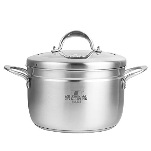 Stainless Steel Steamer Pot, YQAD Japanese-Style Single Layer Thicken Food Steamer Induction Cooker Gas Stoves General Purpose Steamer/Stock Pot-24CM
