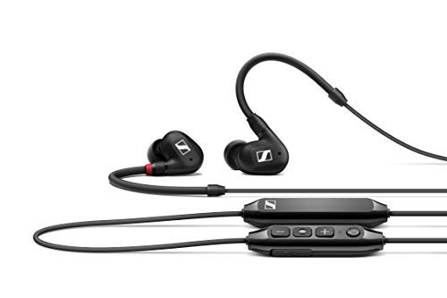 Sennheiser IE 100 PRO Wireless Monitoring Earphone BLACK built-in mic everyday companions for your mobile phone, PC or tablet with passive noise cancelling & 10hours battery life