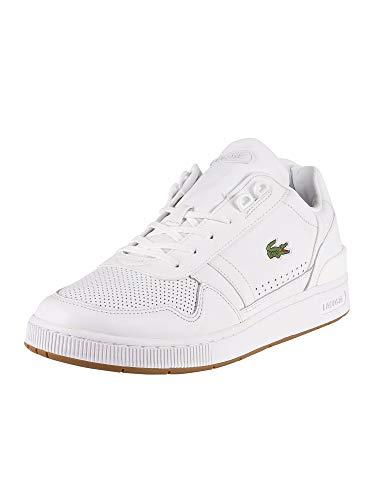 Lacoste T-Clip 220 2 QSP SMA Zapatillas de piel para hombre, color blanco, color Blanco, talla 39 1/3 EU
