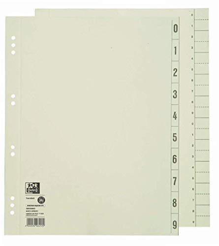 ELBA 400004663 Trennblätter aus Recycling-Kraftkarton für DIN A4 100er Pack Lochung 6 und 8 cm chamois Trennlaschen Trennblätter Ordner Register Kalender Blauer Engel