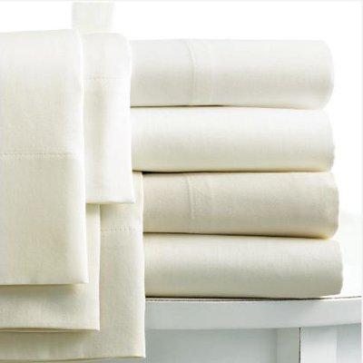 Linens Limited Bettlaken - Ägypt. Baumwolle, Fadenzahl 400 - Creme - 254 x 290cm/180 x 200cm