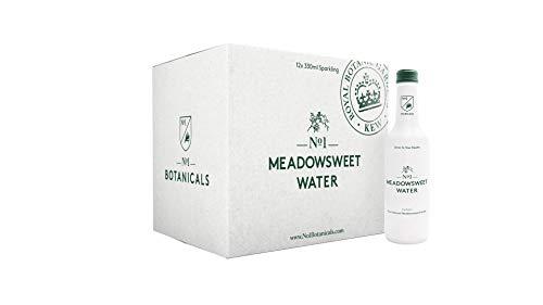 No.1 Botanicals Mädesüß-Wasser – Erfrischendes Sprudelwasser mit Mädesüß-Extract - Zuckerfrei, Keine Künstlichen Süßstoffe – Softdrink oder Cocktail Mixer (12x330ml)