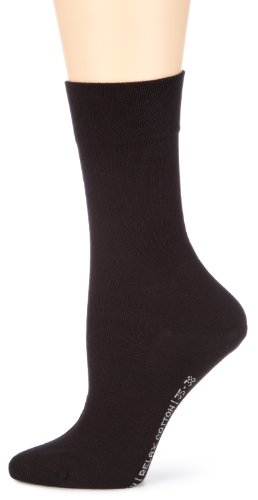 Hudson RELAX COTTON Damen Socken, Baumwollsocken Damen ohne Gummibund, Frauen Socken mit verstärkter Sohle (hautfreundlich, viele Farben) Menge: 1 Paar, Schwarz (Black 0005), Gr. 35-38