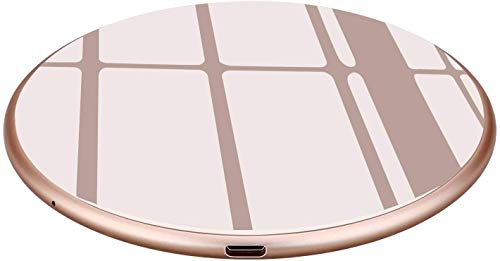 Wireless Charger 15W, Kabelloses Schnellladen 7.5W für iPhone 11//XR/XS/XS Max/X/iPhone 8/8 Plus, Induktions Handyladegeräte 10W für Samsung Galaxy S20/S10/S10+/S10e, S9, S8, S7, Note 10/9/8 (Golden)