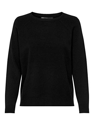 Only Onllesly Kings L/s Pullover Knt Noos Felpa, Nero (Black Black), X-Large Donna