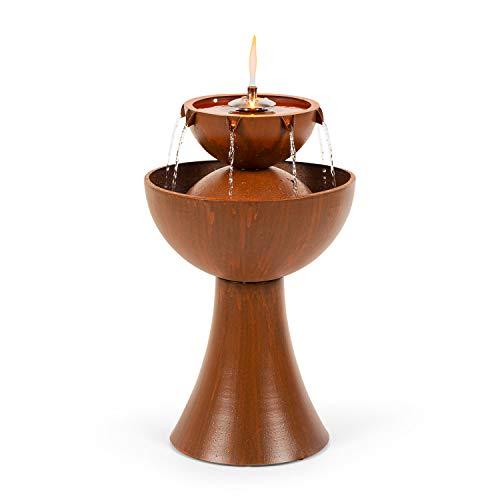 blumfeldt Hadrian Gartenbrunnen, Öllampe aus Edelstahl, Leistungsaufnahme: 8 Watt, für drinnen und draußen geeignet, Durchflussmenge: 650 l/h, Material: verzinktes Metall, rostfarben
