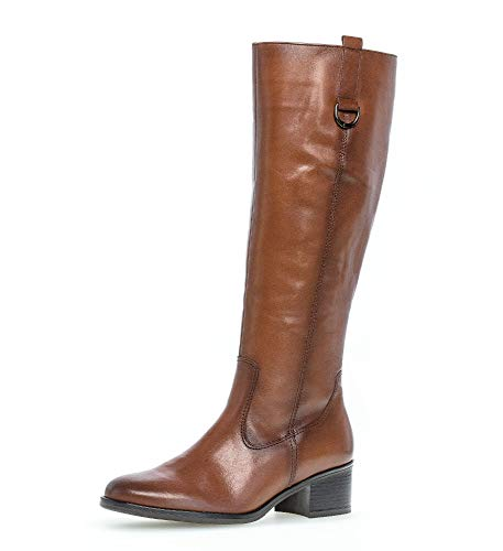 Gabor Damen Stiefel, Frauen Winterstiefel,warm gefüttert,Best Fitting, langschaftstiefel reißverschluss Boots,Caramello (Effekt),42 EU / 8 UK