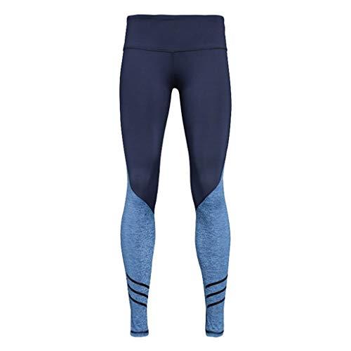 Qiuday Pantalon de Yoga à la Mode féminine Fitness Danse Type Bloomer Pants Gym Pilates Taille Haute Gaine Large