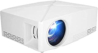 ZLSANVD HD Projector HD 1080P 1280x720p 16:9/4:3 LED Smart Projector Home Theater HDMI Home Beamer 2200Lm Dual Built-in Sp...