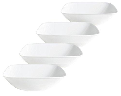 Corelle Square Bowl Bulk Pack Pure White (4 Pack), Pure White
