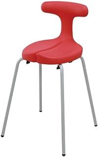 アーユル・チェアー スツールタイプ Sサイズ レッド 【骨盤を立て坐骨で座る 腰と姿勢のサポート椅子 ダイニングチェア 集中できる学習環境】