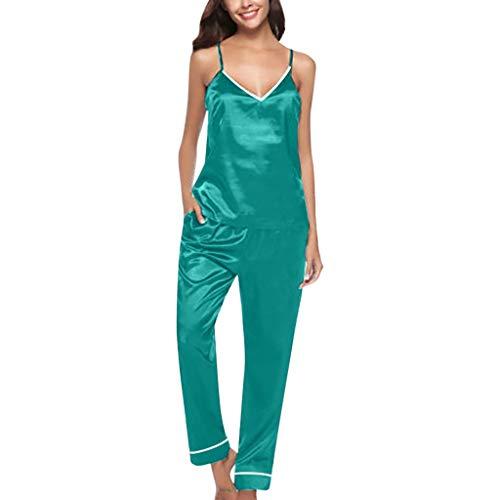 YANFANG Conjunto de Pijamas para Mujer, Tops sin...
