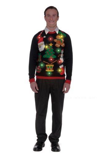 Forum Novelties Adult Everything Light-Up Ugly Christmas Sweater, Multi, Large