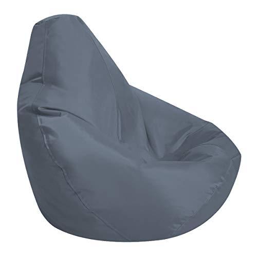 LDIW Sitzsack Bezug Hlle ohne Fllung, Highback Sitzsackhlle aus Wasserdichter Oxford Stoff für Kinder 75x85cm,Dark Gray