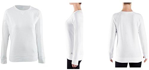 Domyos Exklusive Damen Fitness-Sweatshirt Pullover, Gr. L-2XL, Weiss (XL /104-113 cm)