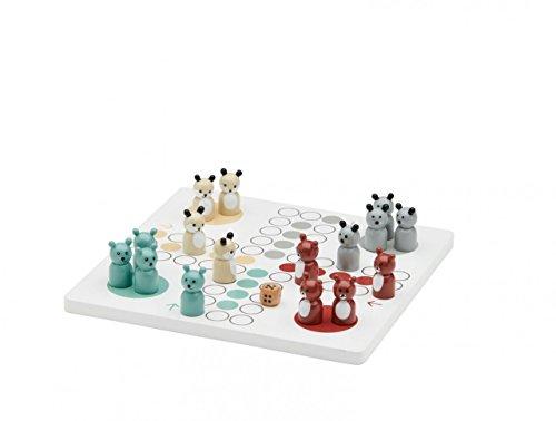Kids Concept Brettspiel EDVIN/Material: Holz/klassisches Spiel mit lustigen Tier-Spielfiguren/Gewicht: 380 g/Maße: 20 x 20 x 0,9 cm
