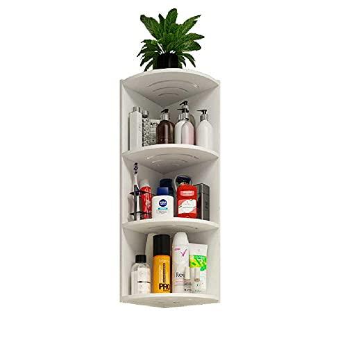 N\C Caja de ducha esquinera de 3 compartimentos, estante de almacenamiento de ducha, estante de ducha no perforado montado en la pared, estante de almacenamiento