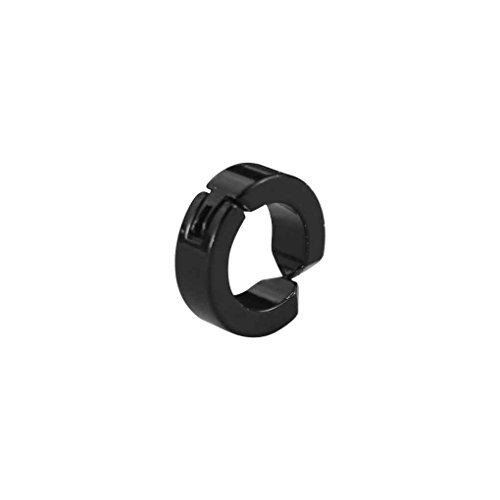 Gankmachine 1x Uomo Hoop Magnetic Acciaio Titanio Orecchio Clip No Ear Piercing Hole Orecchini Falso Nero