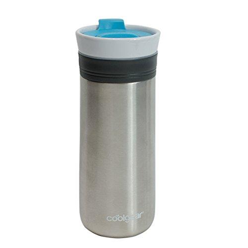 coolgear KAFE 12oz Kona Grip ceramic & Stainless Steel Coffee Mug-blue, 12 oz, Blue