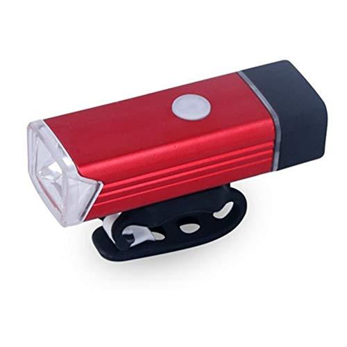 RYHTJN Tête De Vélo Lumières USB Charge 4 Mode LED en Aluminium Avant Lumière Mountain Bike en Plein Air Vélo Portable Détachable, Rouge