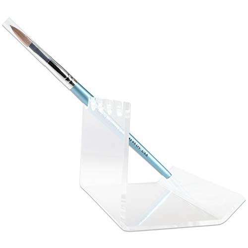 Beauticom New 5-Slots Premium Clear Acrylic for Pen, Makeup Brush, E-Cigarette, Vapor, Pencil Display Stand. Premium Quality & Duarable. Suitable for Home, Office, Store Display Usage.