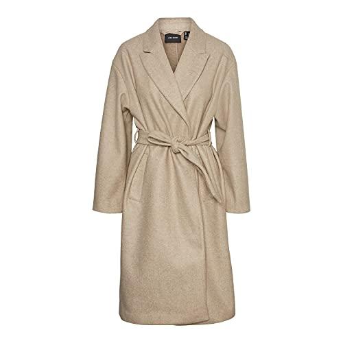 VERO MODA Damen VMFORTUNE Long Jacket GA NOOS Mantel, Safari/Detail:Melange, M