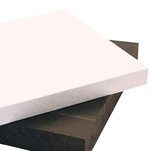 "HDPE Sheet High Density Polyethylene - Plastic Sheet 3/4"" Thick 12"" Length x 24 Width Black"