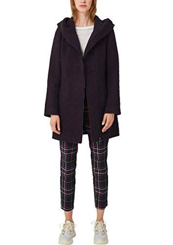 s.Oliver Damen Bouclé-Mantel mit großer Kapuze red tweed 46