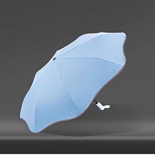 ASDMRQ paraguas, curva protector solar paraguas plegable, paraguas automático de negocios, paraguas plegable, paraguas de viaje de diseño simple