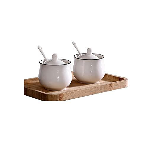 Kruidendoos Porselein Creature Pots Set van 3,voor keuken Home Koffie,Kleur Categorie:Wit,Grootte:5.5 * 7.5cm Kruiden…