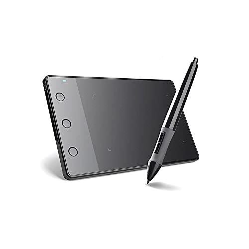 Fesjoy Tablette à stylet, Tableta de dibujo de gráficos profesionales H420 con 3 teclas de acceso directo 2048 niveles Sensibilidad a la presión 4000LPI Resolución de lápiz