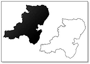 Aberdeenshire (Reino Unido, Escocia) Mapa Ilustración imán para nevera