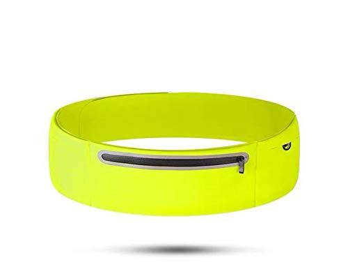 Bolsa de cintura para correr elástica Reflective Cremallera Pocket Cintura Jogging Cintura Paquete Bolsa de teléfono anti-robo Bolsa de cintura (Color : GS)