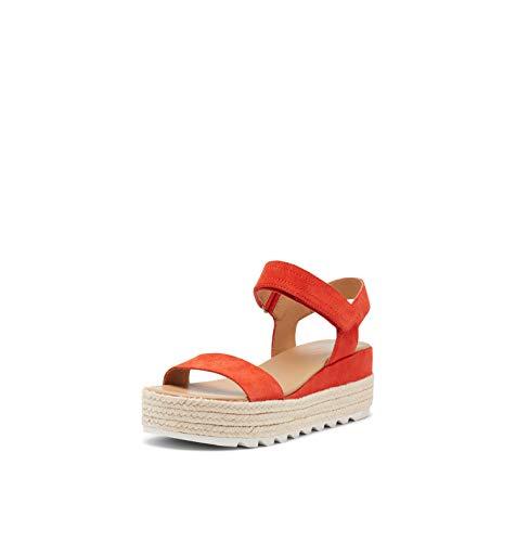 Sorel Women's Cameron Flatform Sandal - Signal Red - Size 8