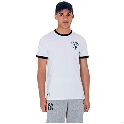 New Era - Camiseta de manga corta con logotipo de New York Yankees