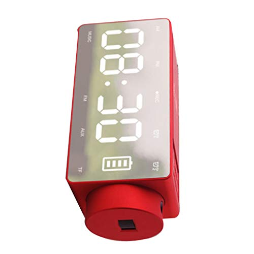GFCGFGDRG - Reloj Despertador con Altavoz y Altavoz inalámbrico, Color Negro